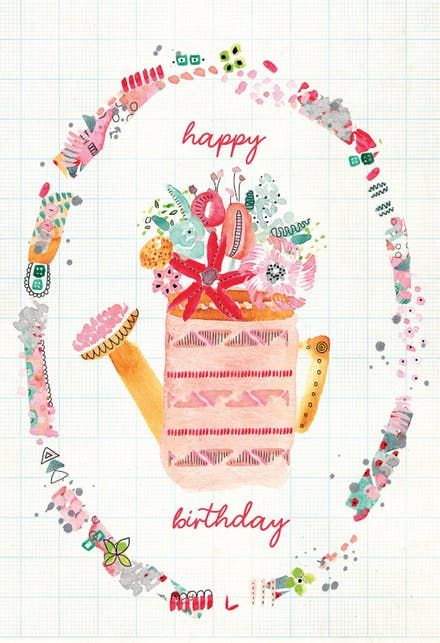 Can Can Happy Birthday Card Free Printable Birthday Cards Birthday Card Printable Grandma Birthday Card