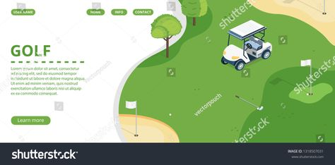 Golf Course Country Sports Club Resort Royalty Free Image Illustration In 2020 Country Sports Sports Clubs Golf Courses