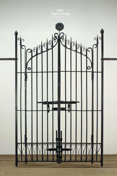 Black Finish Ornate Wrought Iron Gates Wrought Iron Gates Dark