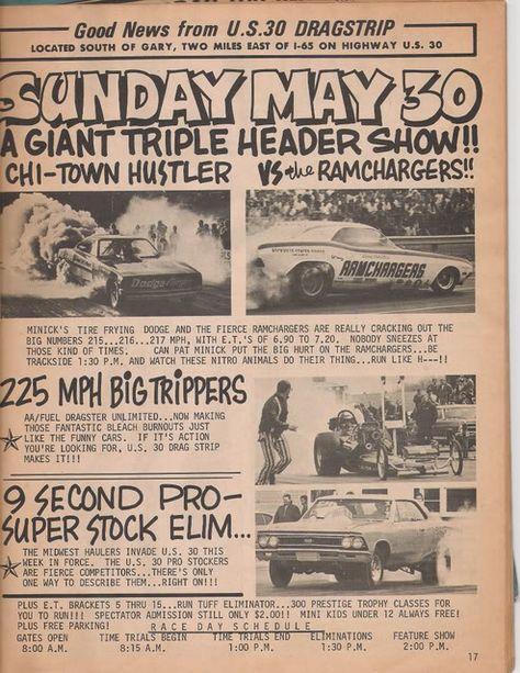 Vintage Drag Racing poster