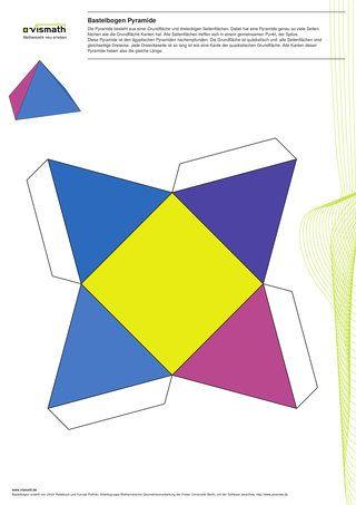 Bastelvorlage Pyramide Kinderleicht Geometrie Geometrisch