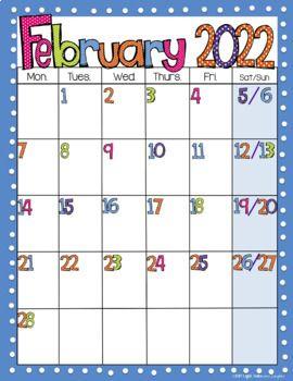 Lego Calendar October 2022.Editable Free Bright Polka Dot Monthly Calendars 2021 2022 Tpt In 2021 Editable Monthly Calendar School Calendar Printables School Calendar