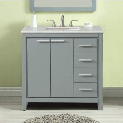 Ebern Designs Easterling 36 Single Bathroom Vanity Set Ebern