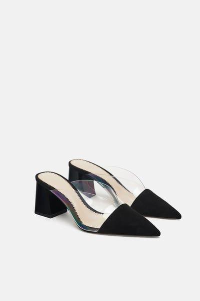 ZARA - Female - High heeled vinyl mule