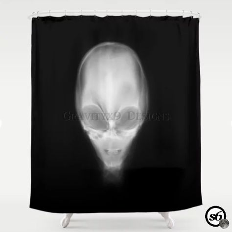 Alien X Ray Shower Curtain By Gravityx9 At Society6 Curtain