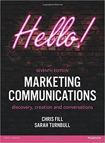 Marketing Communications 7th 7e By Chris Fill Marketing Communications Ebook Marketing Book Marketing