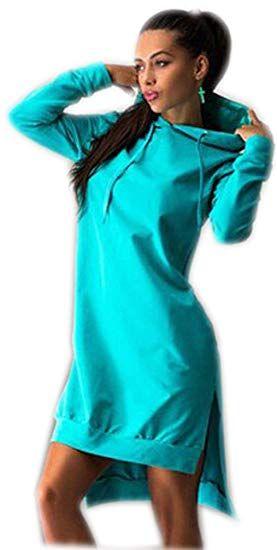 reputable site fc49c 39677 Pullover Damen Lange Hoodie Hoodies Für Damen Kleid Modische ...
