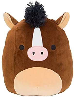 Amazon Com Squishmallow Kellytoy 16 Inch Brisby The Brown Horse Super Soft Plush Toy Animal Pillow In 2021 Fluffy Stuffed Animals Animal Pillows Cute Stuffed Animals