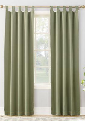 Sun Zero Hayden Room Darkening Tab Top Window Curtains Sage Green 95 Curtains Tab Top Curtains Panel Curtains