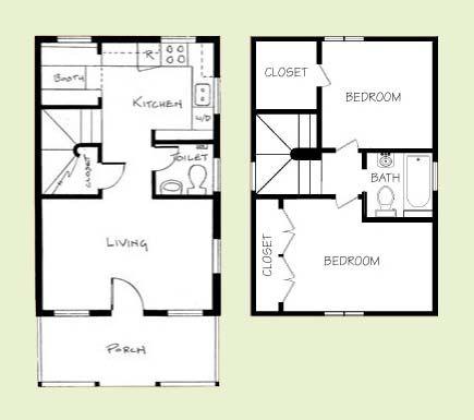 600 700 sq ft Tiny Floor Plans Pinterest Tiny houses Porch