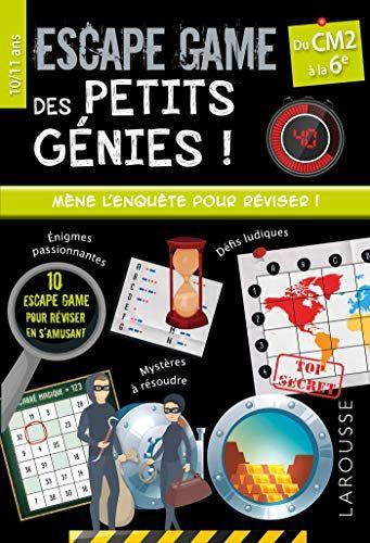 Escape Games Des Petits Genies Cm2 Pdf Gratuit Telecharger