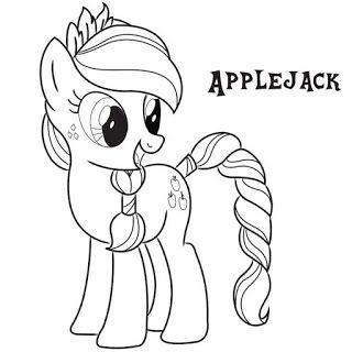 Applejack My Little Pony Coloring Pages Gambar Poni Kuda Poni Buku Mewarnai
