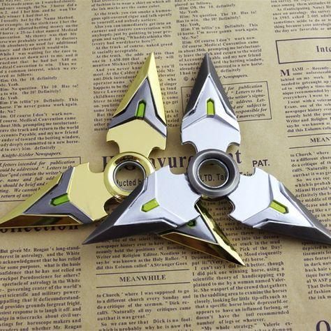 Overwatch Genji Shuriken Hand Spinner EDC Metal Fidget Rotate Cosplay Gun color