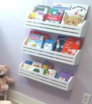 Childrens Book Shelves Set Of 3 Kids Book Shelves Hanging Book Shelf Nursery Book Shelf Kids Room Playroom Storage Wall Shelf Childrens Book Shelves Bookshelves Kids Kids Book Storage