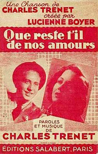 Paroles Que Reste T Il De Nos Amours : paroles, reste, amours, Reste, Amours., Partition, Charles, Trenet,, Chanson,, Amour