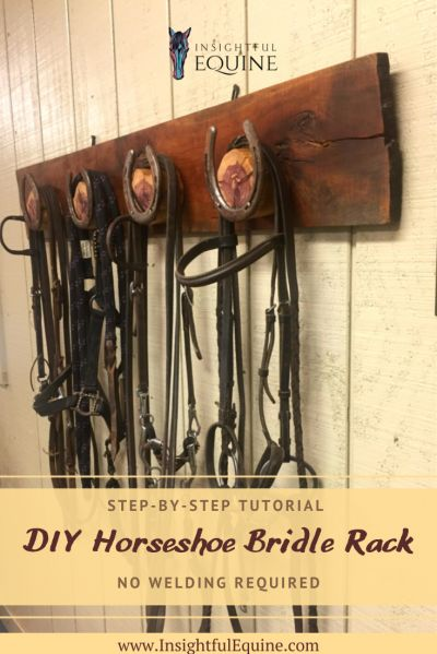Full step-by-step plans to craft your own stunning horseshoe coat or bridle rack the easy way without welding, cutting, or bending any horseshoes. Horse Tack Rooms, Horse Stables, Horse Farms, Horse Horse, Tack Room Organization, Tack Box, Western Horse Tack, Western Saddles, Horse Barn Plans