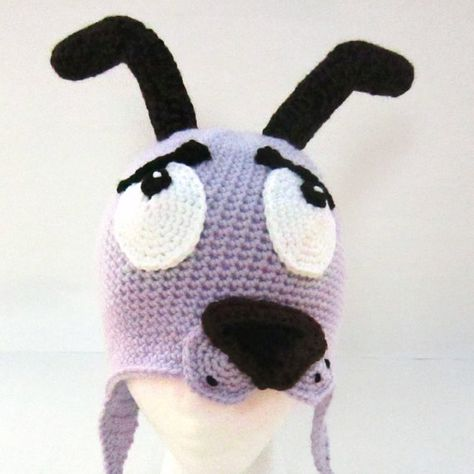 It S Courage The Cowardly Dog Hat Crochet By Sunshinemonster On