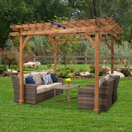 Backyard Discovery 10 X 10 Abilene Pergola Walmart Com Backyard Pergola Pergola Plans Outdoor Pergola