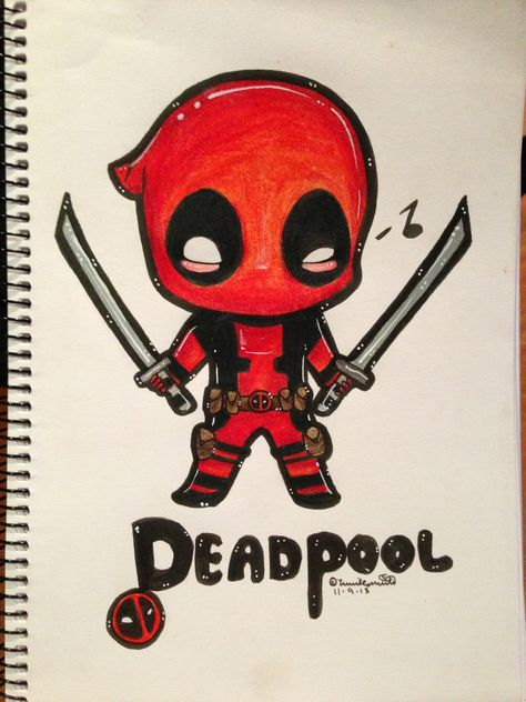 Spiderman X Deadpool Tyler Inks Deadpool Chibi Desenhos