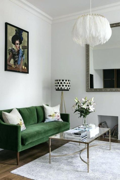 53 Ideas Living Room Green Couch Decor Rugs In 2020 Green Sofa