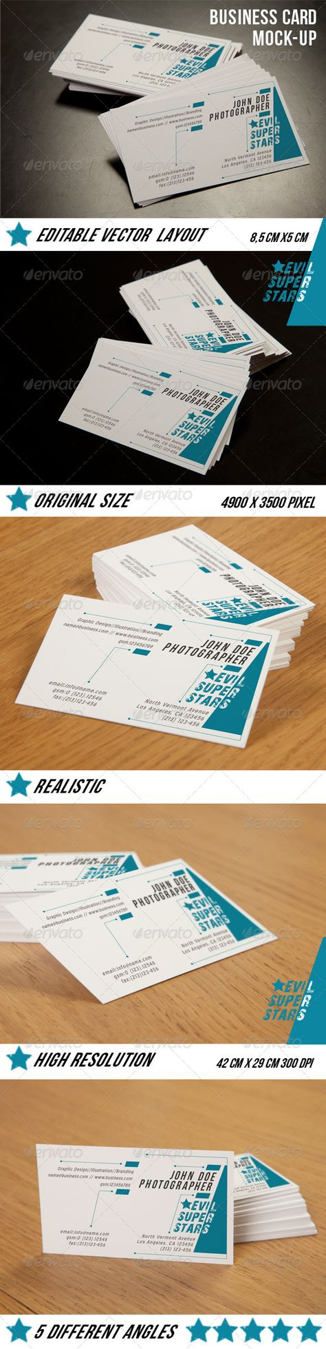 Business Card Mockup — Photoshop PSD #mockups #calling card • Available here → https://graphicriver.net/item/business-card-mockup/3864904?ref=pxcr