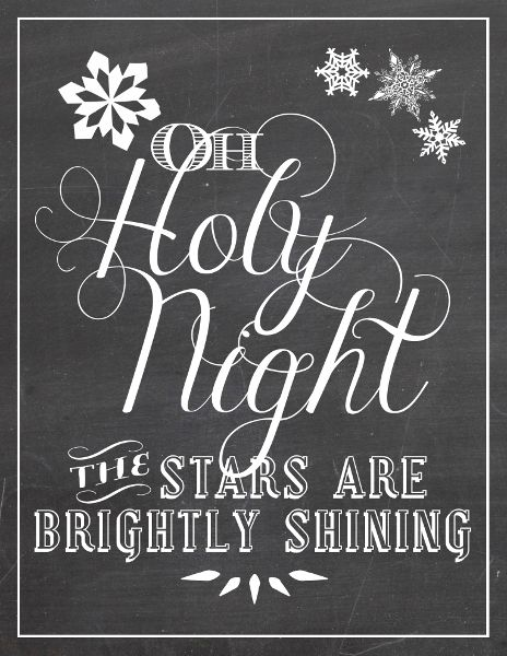 Oh Holy Night (Free Christmas Printable)
