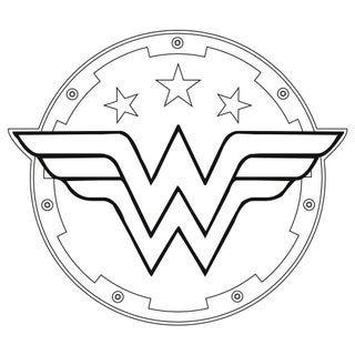 Make A Super Heroine Shield Wonder Woman Logo Coloring Pages Superhero Coloring Pages