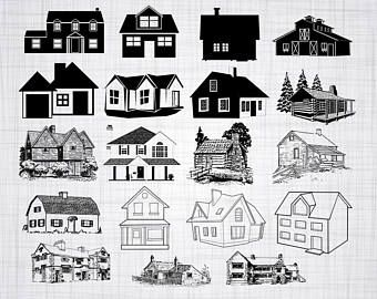 Doodle House Clipart House Vector Art Home House City Town House Png Home Vector Download House Illustrations 101 House Clipart House Vector House Silhouette