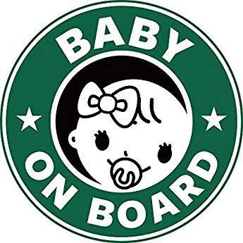 Exproud製 Baby On Borad 赤ちゃんが乗っています ステッカー シール 直径12cm 女の子用 あおり運転対策 ステッカー 赤ちゃんが乗っています ステッカー シール