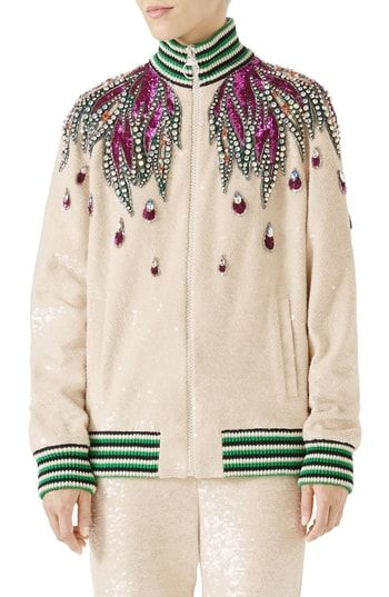 e638b9cb9 Great for Gucci Embellished Track Jacket women's coats Jacket online.  [$8700] likeprodress from top store