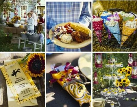 Hoedown food and decor