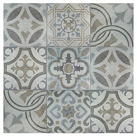 Merola Tile Llanes Jet 13 1 8 Inch X 13 1 8 Inch Ceramic Floor And Wall Tile 10 76 Sq Ft Case The Home Depot Ca Ceramic Floor Merola Tile Tile Patterns