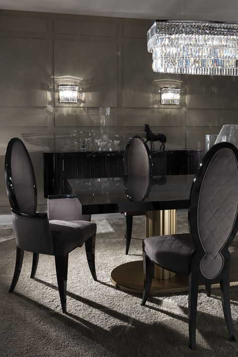 Contemporary Italian Oval Designer Dining Chair Juliettes Interiors Luxury Dining Room Luxury Dining Tables Modern Dining Table