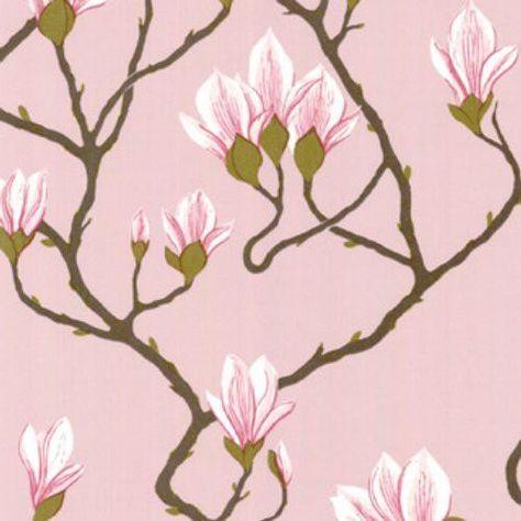 Cole & Son Magnolia Pink Wallpaper - Sample - Cole & Son Magnolia Pink Wallpaper / MAGNOLIA / PINK