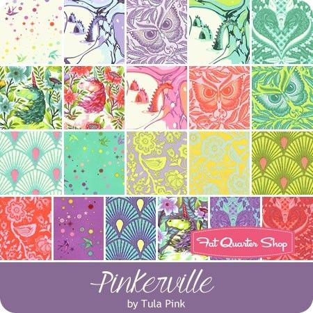 Fat Quarter Bundle of Pinkerville by Tula Pink for Free Spirit Fabrics