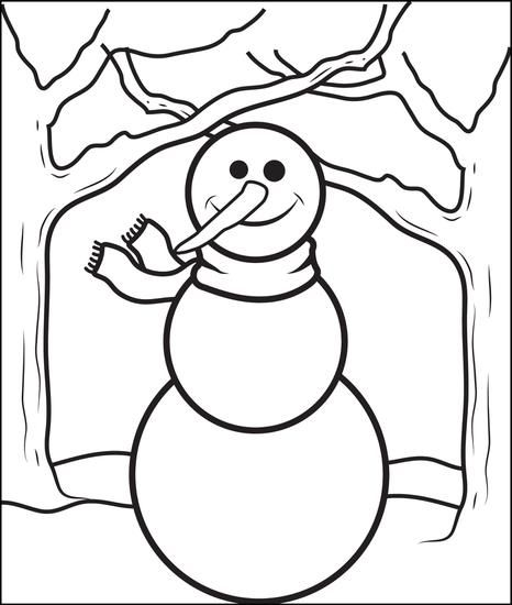 Printable Snowman Coloring Page For Kids Snowman Coloring Pages