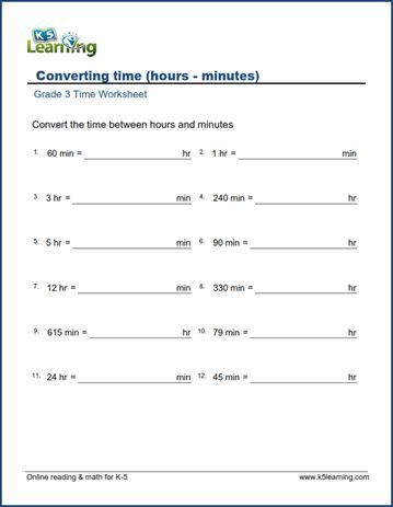 Worksheets Conversions Time In 2020 Time Worksheets Time