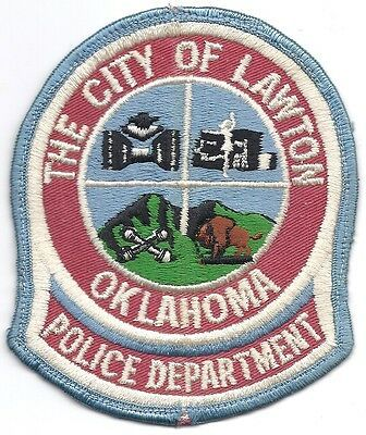 Us State Of Oklahoma City Of Lawton Police Department Patch Police Department Police Badge Police