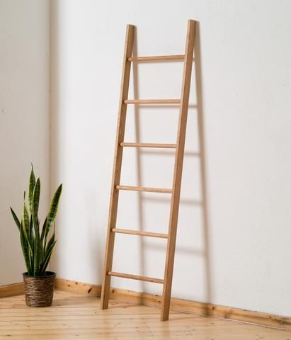 Oiled Oak Clothes Ladder Made in Germany by kleiderleiter.de
