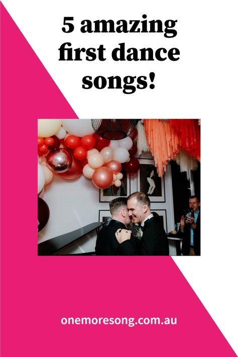 Melbourne's One More Song DJs take the stress out of choosing a first dance song with their list of 5 best first dance tunes! #weddingsongs #firstdance #firstdanceweddingsongs #weddingsongsplaylist #weddingfirstdance Photo credit: Briars Atlas.
