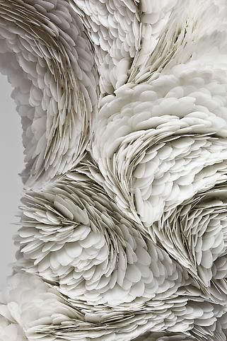 As explained in the link the artist Mindy Shapero creates different shapes and texture using different materials feather -like for me but interesting piece of art.