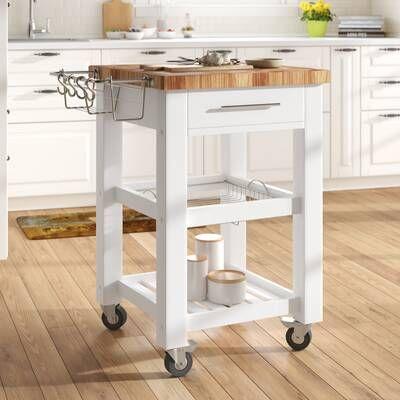 Frasier Kitchen Island Kitchen Cart Butcher Block Top Americana Kitchen