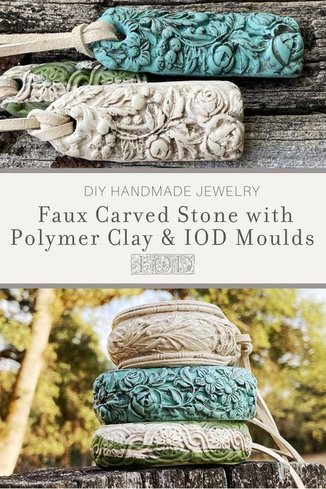 Polymer Clay Crafts, Polymer Clay Jewelry, Jewelry Crafts, Handmade Jewelry, Bone Jewelry, Enamel Jewelry, Iron Orchid Designs, Paperclay, Bijoux Diy
