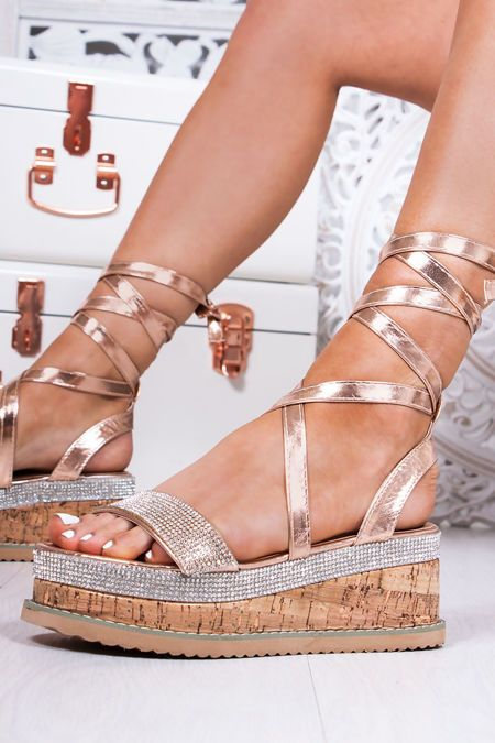LAURIE Rose Gold Diamante Wrap Up