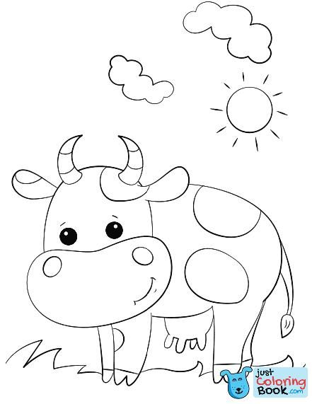 Cute Cartoon Cow Coloring Pages Boyama Sayfalari Cizim Fikirler