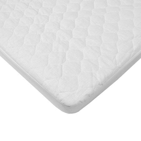 American Baby Company Waterproof Fitted Quilted Portable Mini Crib Mattress Pad Cover White Walmart Com In 2020 Crib Mattress Pad Mattress Pad Cover Bassinet Mattress
