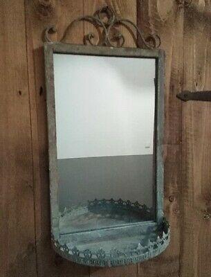 Spiegel Wandspiegel Ablage Badezimmer Bad Landhausstil Metall