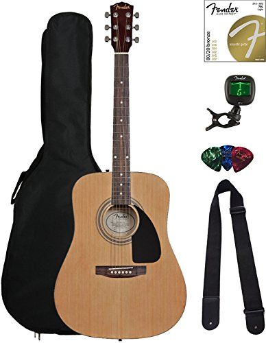 Fender Fa 115 Dreadnought Acoustic Guitar Natural Bundle With Gig Bag Tuner Strings Strap And Picks Fende Fender Acoustic Guitar Guitar Acoustic Guitar