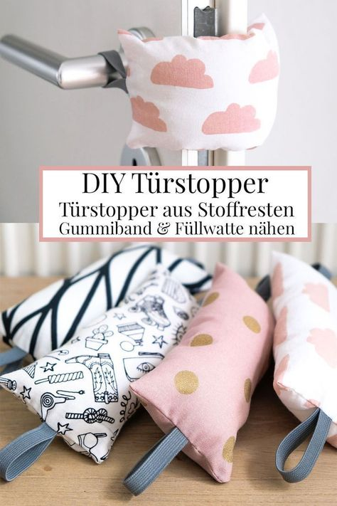Rattling doors are annoying, door stops help. Sew the DIY door stop. DIY door stopper: Doorknob buffers made of fabric remnants, rubber bands and filling cotton sew yourself, no more rattling doors # doorstop #diy # sewing #fast Informations About Klappernde Türen nerven, Türstopper helfen. DIY Türstopper nähen. Pin You can easily use my profile to examine different pin types. Klappernde Türen nerven, Türstopp #annoying #DIY #Door #Doors #Rattling #Sew #Stop #stops