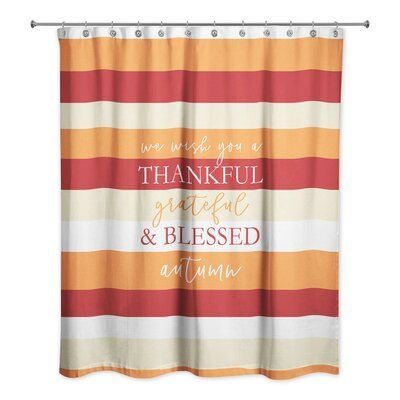 The Holiday Aisle Nishi Autumn Wishes Single Shower Curtain The